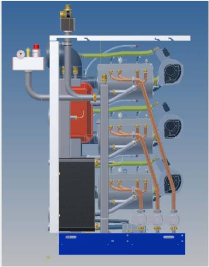 Gas condensing boilers with internal plate heat exchanger